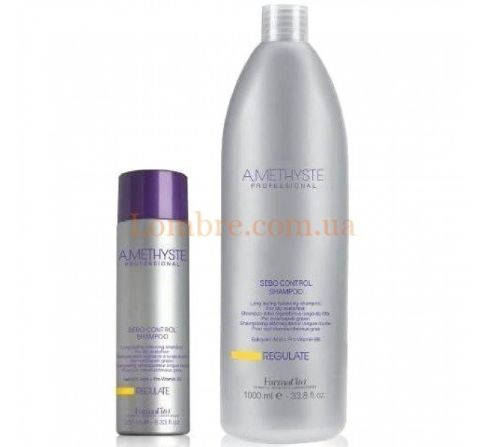 FarmaVita Amethyste Regulate Shampoo - Балансирующий шампунь длительного действия для жирной кожи головы и волос