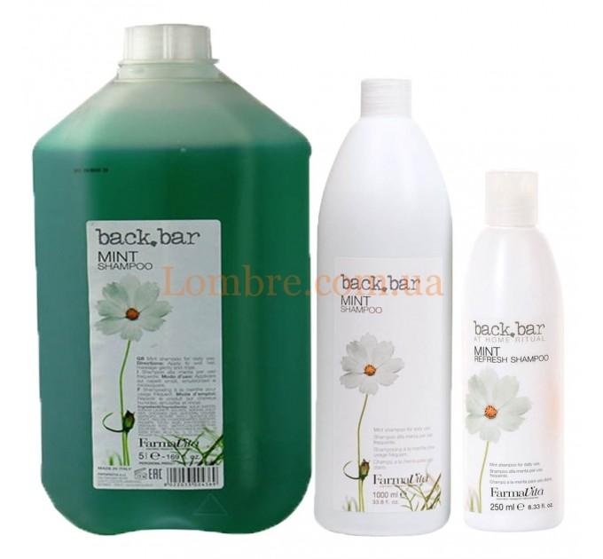 FarmaVita Back Bar Mint Shampoo - Ментоловый шампунь глубокой очистки
