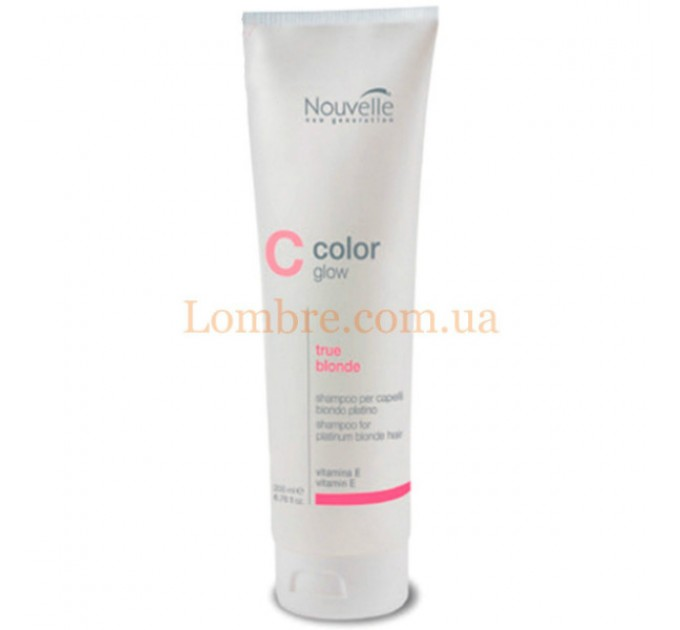 Nouvelle Color Glow True Blonde Shampoo - Шампунь против желтизны блондированных и светлых волос