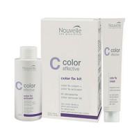 Средство для удаления с волос оттеночной краски и прямых красителей Nouvelle Color Fix Kit 60+90 мл