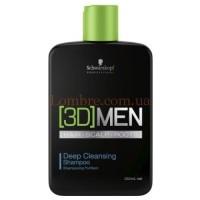Schwarzkopf 3D MENsion Deep Cleansing Shampoo - Шампунь для глубокого очищения
