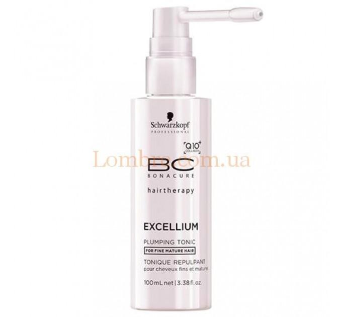Schwarzkopf BC Excellium Q10+Collagen Plumping Tonic - Уплотняющий тоник для волос и кожи головы Q10+Collagen
