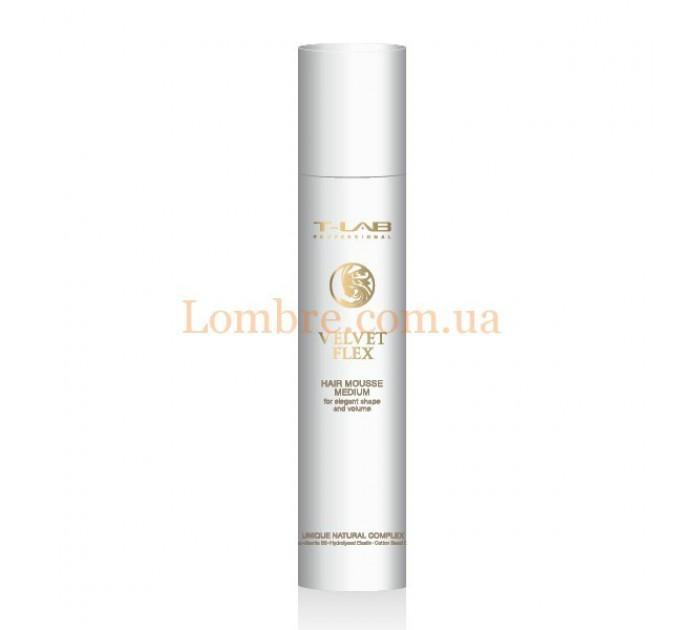 T-LAB Professional Velvet Flex Hair Mousse Medium - Мусс для волос средней фиксации