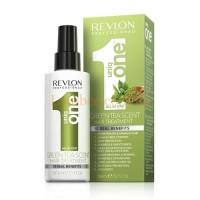 Uniq One All In One Green Tea Scent Hair Treatment - Спрей-маска несмываемая с ароматом зеленого чая