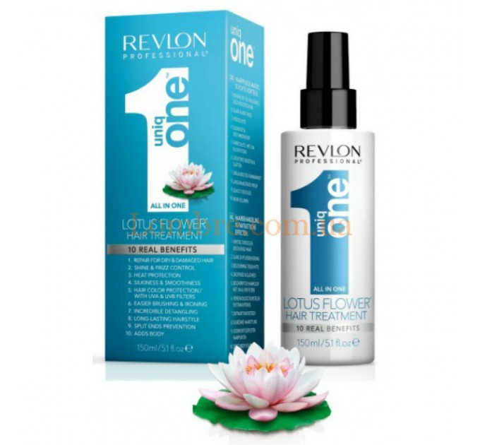 Uniq One All In One Hair Treatment Lotus Flower - Мультифункциональная маска-спрей для волос с лотосом
