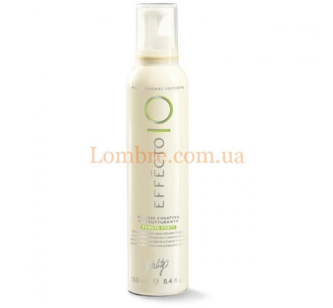 Vitality's Effecto Mousse Fissativa Ristrutturante Tenuta Forte - Профессиональный мусс для укладки волос сильной фиксации