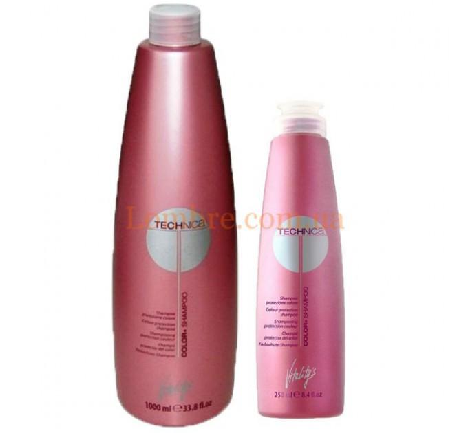 Шампунь для окрашенных волос Vitalitys Technica Color Shampoo 1000мл